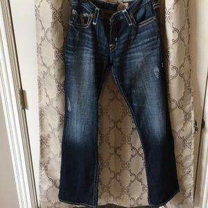 Big Star Liv Boot distressed jeans size 32R.